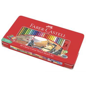 Faber Castell - 經典彩色鉛筆 60色鐵盒裝