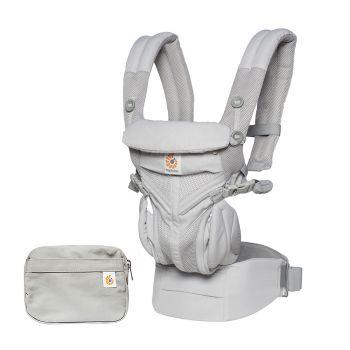 Ergobaby - Omni 全階段型四式360嬰兒背帶 - 透氣款 - 灰色