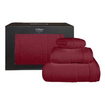 Casablanca - Mian 毛巾系列禮盒套裝 - 酒紅 (VS1183710390+VS1183720390+VS1183730390)