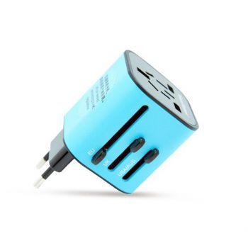 SmartGo - MIX 通用旅行插頭 (藍色)