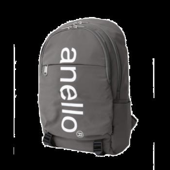 Anello - Anello 巨型標誌印花雙扣背包-AH-B2481-GY 灰色