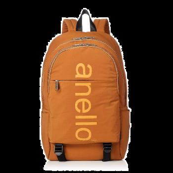 Anello - Anello 巨型標誌印花雙扣背包-AH-B2481-MUS 棕色