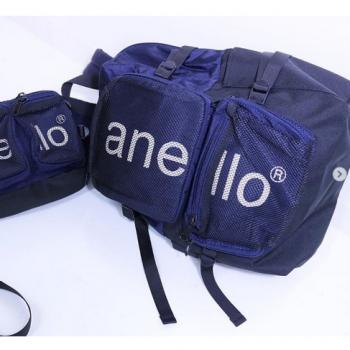 Anello - HDT MESH 大容量多間隔背包 AH-N1011-NV 深藍色