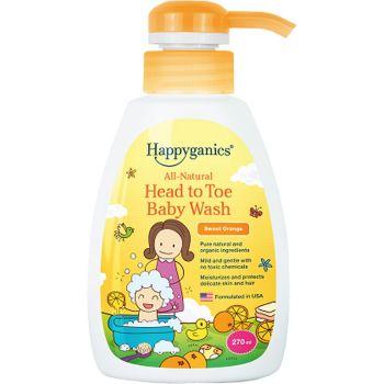 Happyganics - 全天然兒童沖涼液 270ml (甜橙味)