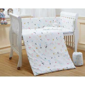 Lenny World - 嬰兒紗布床品套裝 (清晨小鳥)