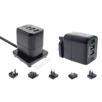ProMini - Qs4TPD 45W 桌面式 / 插牆式兩用旅行 PD/QC 快速充電器