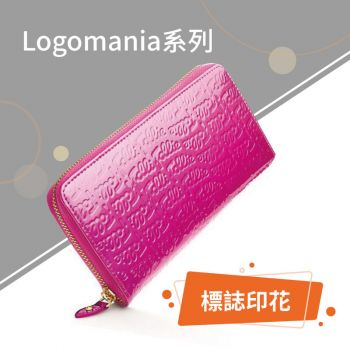 Folli Follie - Logomania 漆皮錢包 - 桃紅色