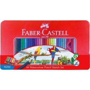 Faber Castell- 水溶性彩色鉛筆 60色 (鐡盒裝)