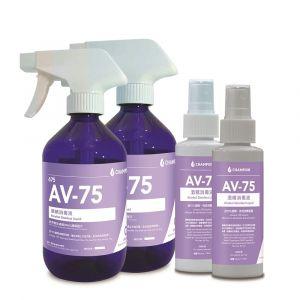 Champion - AV-75酒精搓手液補充裝 (500ml x2 + 100ml x2)